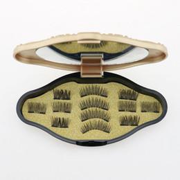 Magnetic Eyelashes 3D False Eyelashes Invisible Magnet 3D Mink Lashes with Tweezers Thick Full Strip Fake Eyelash RRA1407 on Sale