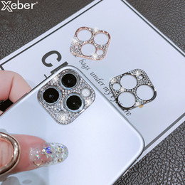 glitter screen protectors NZ - Rhinestone Glitter Camera Lens film Protector Case For iphone 11 Pro Max Diamond Full Lens Screen Protective Cover For iPhone 11 hot selling