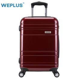 "Spinner Carrying Case Australia - WEPLUS Travel Suitcase Carry on Spinner Wheel Rolling Luggage 20""24""28"" inch Hardside Rolling Boarding Case TSA lock Women Men"