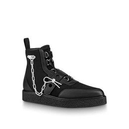 black creepers lace NZ - Hot Sale-CREEPER ankle boots Women Men Latest designer boots Golden chain reaction sneakers decoration size 35-45 for lovers model HX01