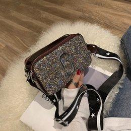Camera Shoulder Strap Australia - New Chaohua version wide shoulder strap inclined bag Chic 100-pack sequins camera bag for 2019