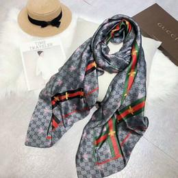 Long Check Scarf Australia - Brand Women Silk Scarves Luxury scarf for Women 2019 New Designer Hemming Long Scarves Shawls Wrap With Tag 180x90Cm Shawls Collar Headband
