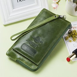 $enCountryForm.capitalKeyWord UK - Clutch Bag Fashion Card Holder Wallet 2019 New Genuine Leather Female Long Wallets Women Zipper Strap Coin Purse For Iphone 8 Y19062003