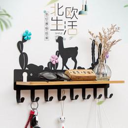 $enCountryForm.capitalKeyWord Australia - iron bamboo wall Hanger coat hat rack key hook bathroom shelf storage rack 6 hooks home furniture living room decoration