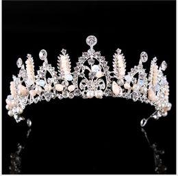 $enCountryForm.capitalKeyWord Australia - Crown Alloy with Pearl Hair Decoration Crown Fashion Film Tower Headdress Female Jewelry