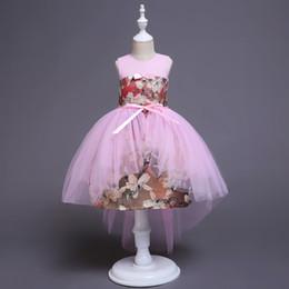 $enCountryForm.capitalKeyWord Canada - Baby Red Blue Pink Jewel Knee Girl's Pageant Dresses Flower Girl Dresses Princess Party Dresses Child Skirt Custom Made 2-14 H312191