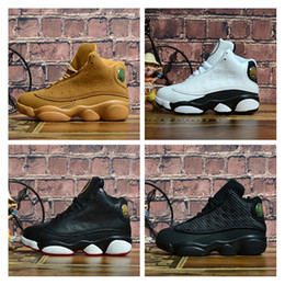 Chinese  Kids 13s basketball shoes Bred Black Cat Defining Moments Wheat Love And Respect Trainers Sports Designer Shoes with box size EU28-35 manufacturers