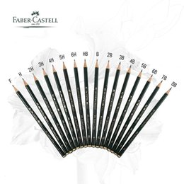 Discount faber pencils - 5 16pcs lot Faber Castell 9000 Design Pencil Art graphite pencils for drawing writing shading sketch Black Lead art supp