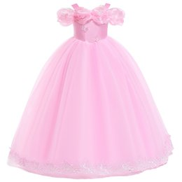 $enCountryForm.capitalKeyWord UK - 2019 Beautiful Holy Communion Dresses Ball Gown for Flower Girls Custom Made Long Puffy Tulle Prom Dress Children Pageant First Communion