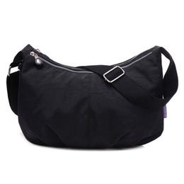 Light Grey Color UK - Women Messenger Bags Nylon Hobo Shoulder Bags Handbags Women Famous Brands Designer Crossbody Bags Female Bolsa Sac A Main Y19062003