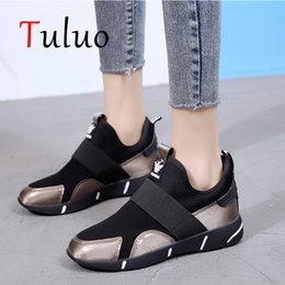 $enCountryForm.capitalKeyWord Australia - TULUO Black Sneakers For Women Running Shoes Korean jogging Sport Shoe Height Increasing 3.5cm Outdoor Comfortable Gym Trainers