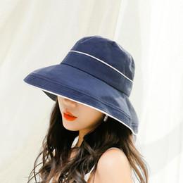 bb10551ff1d BINGYUANHAOXUAN 2019 New Summer Bucket Caps Retro Cotton Bucket Hats for Men  Women Outdoor Travel Hat