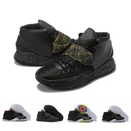 designer golf shoes UK - 2019 Mens 6 Kyrie Basketball Shoes for Men Designer Sneakers 6s VI Black Gold Red White Baskets Sports des Chaussures Schuhe Zapatos 40-46