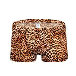 $enCountryForm.capitalKeyWord NZ - #B201 Wholesale Sexy men's underwear leopard printing ice silk pouch boxers underpants panties cuecas free shipping
