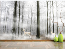 scenery paintings for living room Australia - modern wallpaper for living room beautiful scenery wallpapers Modern forest background wall painting decorative painting