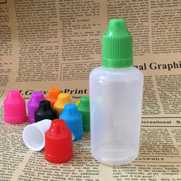 $enCountryForm.capitalKeyWord Australia - 1000pcs Empty Plastic Bottles 50ml E Juice PE Bottle With Colorful Childproof Cap Long Thin Tip For Ejuice Eliquid Oil Free DHL Shipping