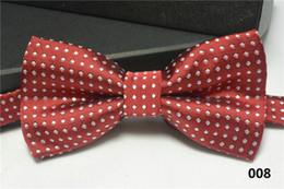 Bowties For Women Australia - Kids bowties polka dot bow tie Boy Girl baby bowtie women men bow ties fashion neckwear for Wedding Party Children Christmas wholesale DHL