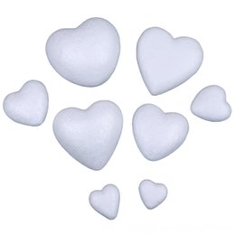 styrofoam crafts Canada - 10Pcs Decorations Festive & Party Supplies Polystyrene Styrofoam Foam Heartshaped Craft For Decoration New 10Pcs Christmas Decorations Festi