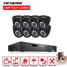 Dome Security System Australia - HCVAHDN Plug and Play 1080P HD 8CH POE NVR Day Night indoor Outdoor Waterproof Security 2.0MP POE IP Dome Cameras CCTV System