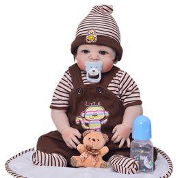 $enCountryForm.capitalKeyWord Australia - Full Silicone 23'' Reborn Baby Doll for Sale Newborn doll 57 cm Realistic Lifelike Baby Alive Dolls Kids Playmate Xmas Gifts Toys