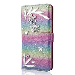 $enCountryForm.capitalKeyWord UK - Feather diamond wallet phone Case for s8 ,Luxury,bling cell phone case for samsung galaxy s8 mobile covers