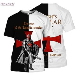 Wholesale oversized tees for sale – custom All Over Printed Knights Templar d t shirts tshirt tees autumn funny Harajuku short sleeve streetwear Unisex Oversized T Shirts