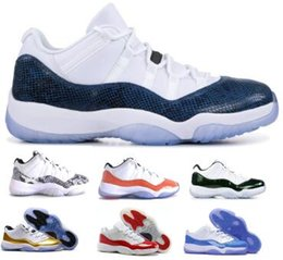 2d4afb4d76aa 11 Basketball Shoes 11s Sneakers Low Snakeskin Emerald Snake Carolina  Barons Closing Ceremony Concord White XI 2019 Mens Women Airing Shoes