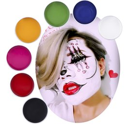 painting faces Australia - Halloween Tattoo Face Body Paint Creamy High Quality 7 Colors Red White Oil Painting For Art Use Fancy Party Makeup Tool