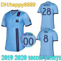 04d0f9cfa New 19 20 PIRLO Soccer jersey thai quality LAMPARD New York City home blue  away MORALEZ DAVID VILLA MEDINA MATARRITA ROSSI Football shirt