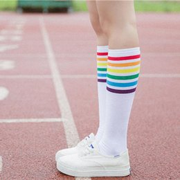 697e60530c7 KANCOOLD Socks high quality Thigh High Socks Over Knee Rainbow Stripe Girls  long socks women over knee stripe jan23