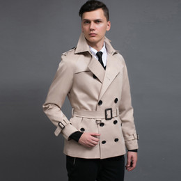 $enCountryForm.capitalKeyWord Australia - Minglu Brand New Mens Trench Coat England Style Beige Trenchcoat Plus Size 3xl Mens Trench Coat Male Slim Fit Jacket For Gift