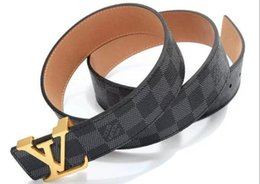 Chinese  2019 Louis Vuitton Belts for Mens Snake Real Genuine Leather Business Belts Women Big Gold Buckle with original Box Black Red A117 manufacturers