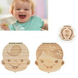 $enCountryForm.capitalKeyWord Australia - Hot SpanishTooth Box Organizer For Baby Milk Teeth Save Wood Storage Caja para los dientes Boy&Girl Cute Cartoon Kids Gift