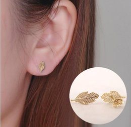 $enCountryForm.capitalKeyWord NZ - 2019 new gold and silver leavesearrings autumn leaves, beautiful and beautiful, cold feelings, feathers, earrings, jewelry, wholesale and