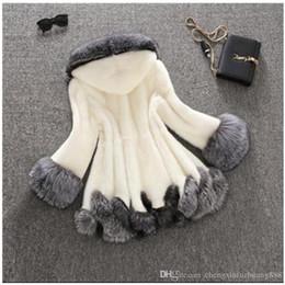 Fur trimmed winter coats online shopping - S xl Large Size Winter New Imitation Fox Fur Coat Mink Women Faux Long Warm Slim Dress Female Outwear Overcoat Black White