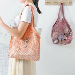 $enCountryForm.capitalKeyWord NZ - Net cloth Reusable Fruit Vegetable Shopping Bag Casual String Grocery Shopper Cotton Tote Mesh Woven Net Shoulder Bag Women