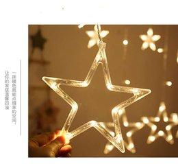 $enCountryForm.capitalKeyWord Australia - LED five-pointed star curtain light, ins room decoration home plug-in lantern, five-pointed star flashing wedding, holiday lantern decoratio