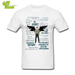 Story O Clothing Australia - Castiel Story Line Supernatural T Shirt Men Summer O Neck Club Tee Adult Plus Size Clothes Custom Made Teenboys Tee Shirts