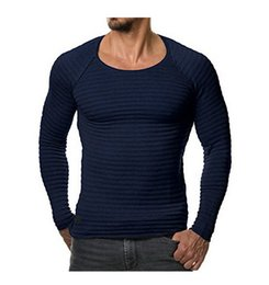 Xxl Knitting Shirt Australia - 2019 gym Summer fashion trend: European and American knitted long sleeve T-shirt and round collar men's jacket