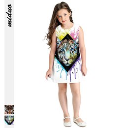 Sell Digital Products Australia - New products best selling digital print children's clothing sleeveless round neck dress European and American fashion girls cute princess
