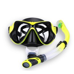 mask scuba equipment NZ - Professional Scuba Diving Mask Snorkel Anti-Fog Goggles Glasse Set Silicone Swimming Fishing Pool Equipment 7 Color Adult T191128
