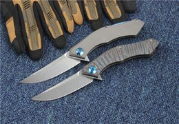 Outdoor Tools For Men Australia - Blue moon folding knife D2 blade TC4 Titanium Alloy handle outdoor camping survival pocket knives EDC tools gift for man