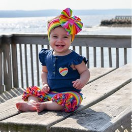 $enCountryForm.capitalKeyWord Australia - Cotton Stripe Pullover Summer Baby Girl Cute Sleeveless Top And Striped Pants And Headband Kit Kid Three-piece Outfit Set
