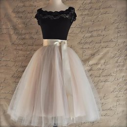 $enCountryForm.capitalKeyWord Australia - Colors 26 5 Layered 65cm Knee Length Tulle Skirt Tutu Women Skirt High Waist Pleated Skirt Cosplay Petticoat Elastic Belt Faldas