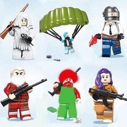 Military Figures Australia - 6pcs set 6in1 Military Soldiers Vehicles Building Blocks Bricks Models Figures Cartoon Toys Children Gift Toys
