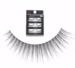 Natural Short False Eyelashes Australia - New False Eyelashes 3 Pairs Handmade Natural Transparent Fake Eyelashes Short 2019 Makeup Eyelashes