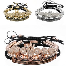 $enCountryForm.capitalKeyWord Australia - 2019 Creative Imperial Crown Beads Stacked Bracelet 3 Set Royal King Style Men And Women Fashion Charm Jewelry Adjustable Bracelet M528A