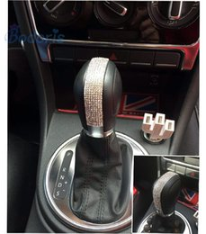 $enCountryForm.capitalKeyWord UK - Car Styling Gear Knob Diamond 3D sticker Hand Shift cover 2013 2014 2015 2016 2017 2018 for Volkswagen VW Beetle Accessories