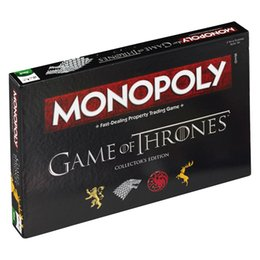 $enCountryForm.capitalKeyWord Australia - High Quality Game of Thrones Jon Snow Cosplay Prop Monopoly Paper Card Flight Chess Woman Men Board Game Party Holida