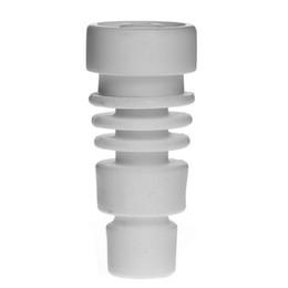 $enCountryForm.capitalKeyWord NZ - Smoking Dogo Universal Domeless Ceramic Nail 14.4mm 18.8mm Ceramic Nails Wax Oil Hookah Smoking Glass Bubbler Water Pipes Bong